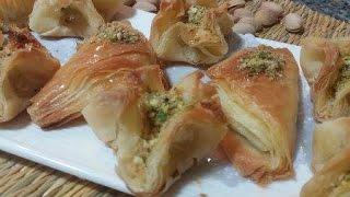 getlinkyoutube.com-حلويات شرقية بعجين الفيلو البيتي  /  Baklawa - Recette orientale