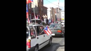 Puerto Rican Day parade Philly girl on roof twerk