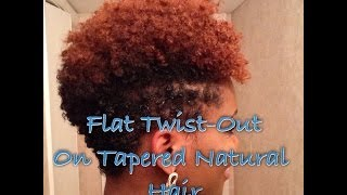 getlinkyoutube.com-How To: Flat Twist-Out on Tapered Natural Hair