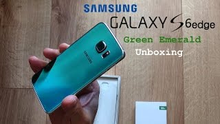 getlinkyoutube.com-Samsung Galaxy S6 Edge 128gb Green Emerald Unboxing & insert SIM Card