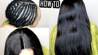 getlinkyoutube.com-HOW TO DO Full Sew In WEAVE No Leave Out Tutorial ( BEGINNERS FRIENDLY )