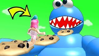 Roblox: ESCAPE THE COOKIE MONSTER OBBY!!!