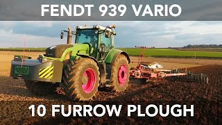 getlinkyoutube.com-Fendt 939 Vario - Ploughing