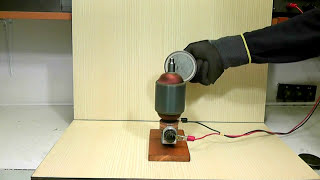 Experiment of magnetic rotor in motion