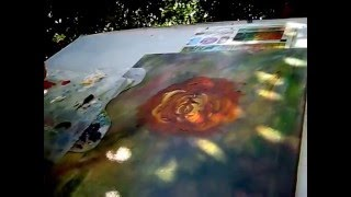 getlinkyoutube.com-How to Paint a Chrysanthemum with Oil on Canvas (Mums Flowers Part 1)