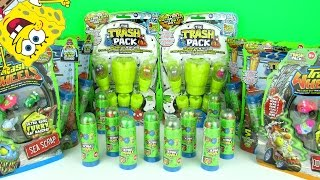 getlinkyoutube.com-The Trash Pack Surprise Toys!! Huge Pack Opening + Funny Spongebob Squarepants Trashie Fun 4 Kids