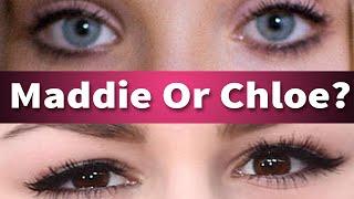 "getlinkyoutube.com-Maddie Ziegler or Chloe Lukasiak? Guess The ""Dance Mom's"" Star Eyes!"