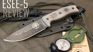 getlinkyoutube.com-Randall's Adventure and Training ESEE-5 Knife- Black Scout Reviews