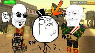 getlinkyoutube.com-Pixel Gun 3D - Duel Funny moments