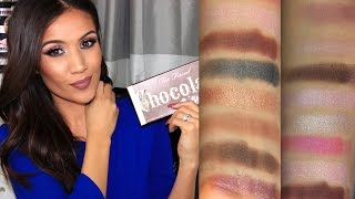 getlinkyoutube.com-NEW Too Faced Chocolate Bon Bon Palette:  Review & Swatches