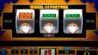getlinkyoutube.com-Wheel of Fortune Slot Machine - Triple Gems - $10 Max Bet *LIVE PLAY* Wheel Bonus!