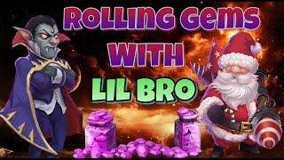 getlinkyoutube.com-Castle Clash Rolling Gems with Lil Bro!