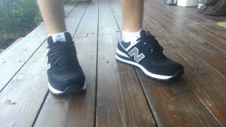 getlinkyoutube.com-Black New Balance 574 Review With On-Foot