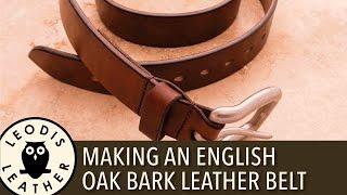 getlinkyoutube.com-Making an English Oak Bark Leather Belt 4K