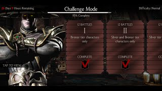 getlinkyoutube.com-Mortal Kombat X Android Desafio / Challenge Dark Raiden Normal