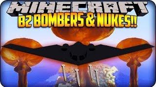 getlinkyoutube.com-Minecraft Mods - B2 Bombers, Nukes & Stealth Bombers! (Rival Rebels Mod)
