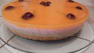 getlinkyoutube.com-كيكة الطبقات باردة سهلة التحضير مع طبخ ليلى cake