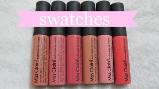 getlinkyoutube.com-Miss Claire Soft Matte Lip Creams   SWATCHES