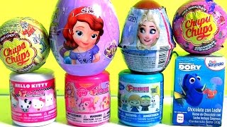 getlinkyoutube.com-TOYS SURPRISES Frozen Elsa Disney Princess Sofia My Little Pony Chupa Chups Mashems & Fashems