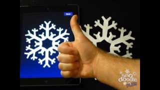 getlinkyoutube.com-Make a perfect paper snowflake with Snodoodle Plus for iOS