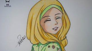 getlinkyoutube.com-كيفية رسم انمي بالحجاب خطوة بخطوة
