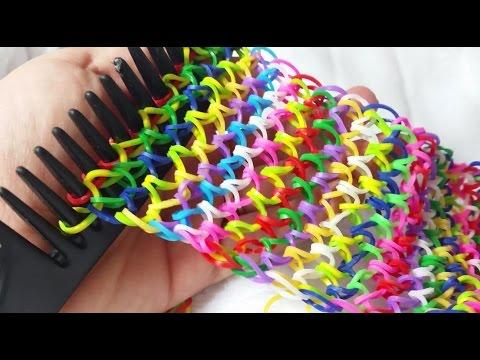 Rainbow Loom-Pulseiras com elástico (Escama De Dragão)COM PENTE GOMITAS