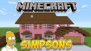 getlinkyoutube.com-Minecraft: Como construir a casa dos Simpsons