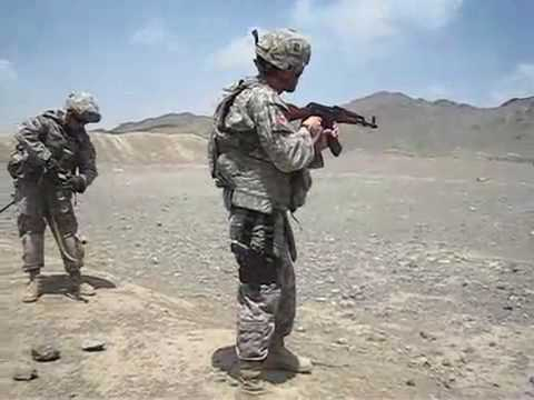 Soldiers shooting ak-47