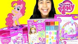 My Little Pony DIY Stamp Art Studio Glitter Globe Design Pony Apparel MLP Toys!B2cutecupcakes