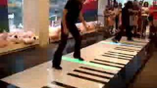getlinkyoutube.com-Phantom of the Opera, Bach Duo on a floor keyboard -- AMAZING!!