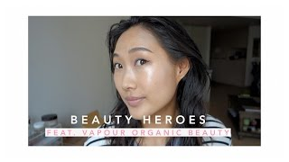 getlinkyoutube.com-Glowy Skin with Beauty Heroes! feat. Vapour Organic Beauty | Jenn Rogers