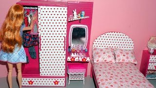 getlinkyoutube.com-How to make a wardrobe with a dressing/vanity table for dolls - miniature crafts DIY