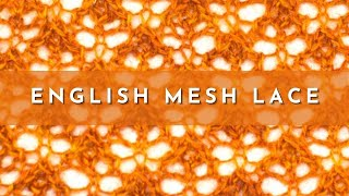 getlinkyoutube.com-How to Knit the English Mesh Lace Stitch