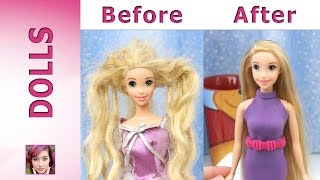 getlinkyoutube.com-Rapunzel's Makeover - Hair Repair and New Dress