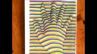 [だれでも描ける!] 簡単に描ける3Dの手の絵の描き方 [3Dアート]  How to draw 3D art