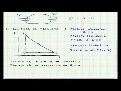 Video 008 - Problema Aplicacion Primera Ley de la Termodinamica - Termodinamica -tedmrl2E60M