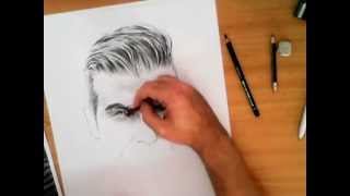 getlinkyoutube.com-David Beckham pencil drawing Part 1