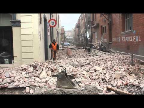 Seconds after the 22nd feb Christchurch Earthquake - EXCLUSIVE in the CBD
