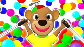 getlinkyoutube.com-SUPER CIRCUS 3D Kid's Olympics | Olympic Playground, Color Balls, Ball Pit Show by Busy Beavers