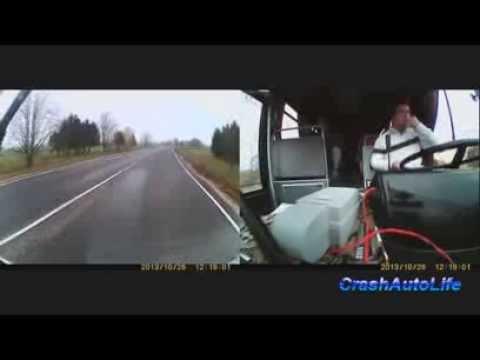 Водитель на Opel Calibra врезался в рейсовый автобус