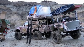 getlinkyoutube.com-RC CWR Into the Trenches of the Alberta BadLands with the RC4WD crew