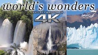 getlinkyoutube.com-WORLD'S WONDERS in 4K | 1HR Nature Relaxation™ UHD Music Video / Screensaver