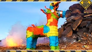 getlinkyoutube.com-Look, My Piñata Bleeds Kitty Litter!