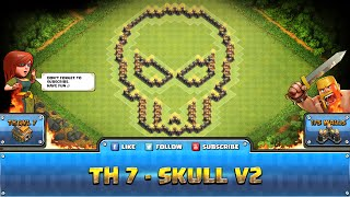getlinkyoutube.com-★ Clash of Clans Troll Base ★ TH7 - Skull V2 Hybrid