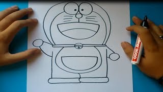 getlinkyoutube.com-Como dibujar a Doraemon paso a paso - Doraemon | How to draw Doraemon - Doraemon
