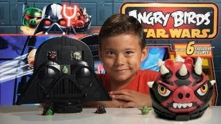 getlinkyoutube.com-Angry Birds RISE of DARTH VADER GAME- Angry Birds STAR WARS II - Jenga DARTH MAUL PIG!