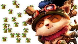 getlinkyoutube.com-OVER 9000 MUSHROOMS - TROLL TEEMO BUG