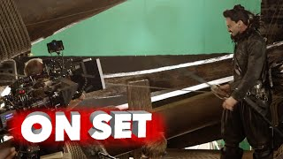 getlinkyoutube.com-Pan 2015: Behind the Scenes Movie Broll 4K - Hugh Jackman, Rooney Mara