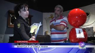 El Dorado Furniture celebra sus 50 Años regalándole muebles a la familia Rivera