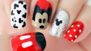 getlinkyoutube.com-♥ Disney Mickey Mouse Inspired Nails ♥